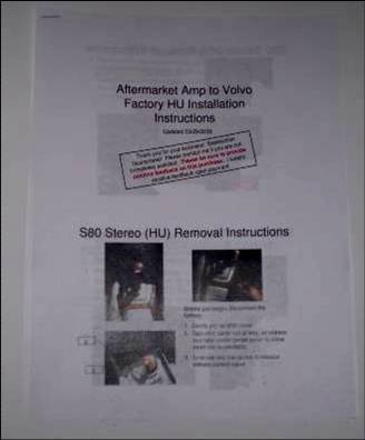 Volvo    Stereo    Radio   Factory HU to Aftermarket Amp Cable   eBay
